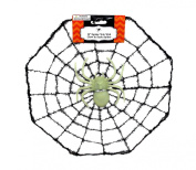 30cm Spider Web with Glow In The Dark Spider Decoration