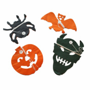 Yunko Halloween Decorations Paper Garlands - Skulls, Bats, Jack-o-pumpkin, Pack of 4