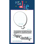 Your Next Stamp Die Big Balloon Birthday