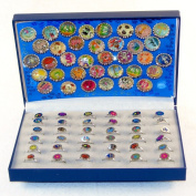 Magna Capz - 72 Pc. Kids Jewellery Set - Magnet Bottle Caps And Kids Rings - Fun Jewellery, Party Rings Dress Up Jewellery Set, 72 Pc. Retail Display Box. Kids Party Jewellery.