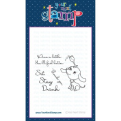 Your Next Stamp Clear Stamps 7.6cm x 10cm Sit Stay Drink