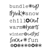 MSE My Sentiments Exactly Clear Stamps 7.6cm x 10cm Sheet Snow Fun