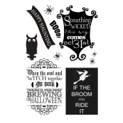 MSE My Sentiments Exactly Clear Stamps 10cm x 15cm Sheet Halloween Haunting