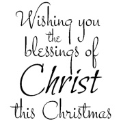 Gourmet Rubber Stamps Cling Stamps 7cm x 12cm Wishing You The Blessing Of Christ