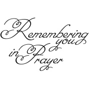 Gourmet Rubber Stamps Cling Stamps 7cm x 12cm Remembering You In Prayer