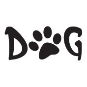 Gourmet Rubber Stamps Cling Stamps 8.6cm x 17cm Dog With Paw Print