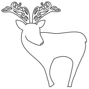 Gourmet Rubber Stamps Cling Stamps 11cm x 16cm Reindeer Outline