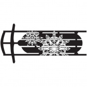 Gourmet Rubber Stamps Cling Stamps 11cm x 16cm Snowflake Sled