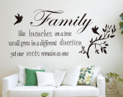 Lanue® Wall Sticker for Sitting Room Wall Decor - Family like branches on a tree, we all grow in different directions yet our roots remain as one
