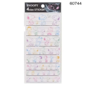 Kamio Japan Transparent Stickers Snoopy & Friends