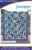 Spangled Quilt Pattern, Jelly Roll 6.4cm Strip Friendly, 5 Finished Size Options