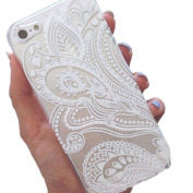iPhone 6S+, Shensee For iPhone 6S Plus Clear Henna White Floral Flower Plastic Case Cover Skin [For 14cm , Iphone 6S+]