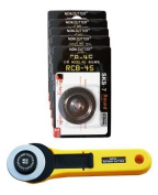 45MM ROTARY CUTTER + 5 x BLADES, Get The Deal!