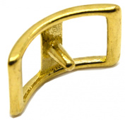 Okone 3Sizes Solid Brass Conway Buckle Saddle Buckle Strap Buckle for Leathercraft Pack of 4