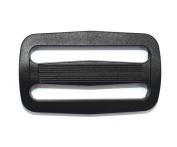 12pcs 5.1cm Plastic Curve Tri-glide Slider Adjustable Buckle for Bags Webbing Black ...