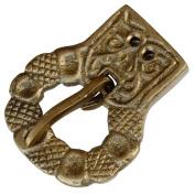 Mediaeval Nobles Antique Foliate Brass Belt Buckle