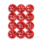 Set of 12 Coral Fire Shirt Buttons, Made in Italy