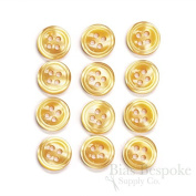 Set of 12 Orange Cream Shirt Buttons, Made in Italy