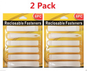 Wennow 2 Pack Reclosable Fasteners - White