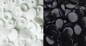 KAMsnaps® 100 White KAM Snaps Size 20 (1.3cm ) T5 Plastic Button Sewing Fastener CPSIA-Compliant for Cloth Nappies Bibs Unpaper Towels PUL