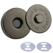 Wowlife 10 pcs 18mm/14mm Dia Magnetic Button Nickel Clasp Snaps Purses Bags Clothes Snaps