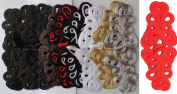 Lyracces Mixed 10 Pairs 10color Extra Big Size Handmade Sewing Fasteners Chinese Closure Knot Cheongsam Frog Buttons