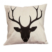45cm*45cm Wensltd Cute Elk Cartoon Pillow Case Cusion Cover