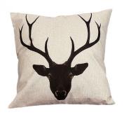 45cm*45cm Wensltd Cute Elk Cartoon Pillow Case Cusion Cover