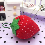 2PCS DIY Craft Strawberry Pin Cushion , Needle Holder Sewing Kit