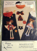 Boo & Betsy Buttons - Craft Pattern - 28cm Angel, Witch & Doll Shirt Designs