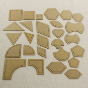 DIY Patchwork Templates Quilt Patchwork Tools 54pc Different Styling for Qualting Project