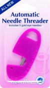 Automatic Needle Threader Hemline Needle Threader for Sewing +5 Gold Eye Needles
