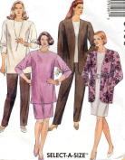 McCall's vintage sewing pattern 6196 jacket, tunic, top, skirt, pants - Women's Size 40-42-44