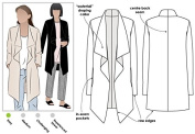 Style Arc Sewing Pattern - Estelle Ponte Jacket (Sizes 04-16) - Click for Other Sizes Available