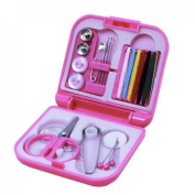 Spools Rainbow Essential Polyester Sewing Tools Thread Box Kit Needlework Box Set for Domestic Sewing Machine Sewing Kit Thread Needle Tape Scissor Thimble Set Quilting Stitching