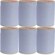 6 Spool 100 % Polyester All Purpose Sewing Thread Spool 600 Yards Per Spool