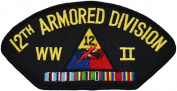 12th Armoured Division WWII Hat Patch