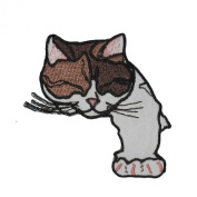 Sleeping Kitty Cat Embroidered Decorative Patches