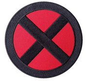 Marvel Comics 7.6cm Xmen Storm Logo Black X Embroidered Iron On/Sewn On Patch with Gift Bag