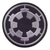 Star Wars 7.6cm Imperial Logo Grey Embroidered Iron On/Sewn On Patch with Gift Bag
