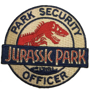 Jurassic Park 7.6cm Park Security Officer Logo Patch Embroidered Iron On/Sewn On Patch with Gift Bag