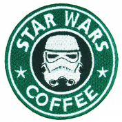Star Wars 7.6cm Coffee Storm Trooper Embroidered Iron On/Sewn On Patch with Gift Bag