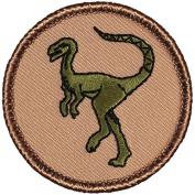 Raptor Dinosaur Patrol Patch - 5.1cm Diameter Round Embroidered Patch