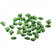 YUFENG 50pcs 14mm Crystal Butterfly Bead Crystal Glass Beads Pendant Charm