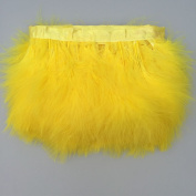 Sowder Yellow Turkey Marabou Feather Fringe Trim Pack of 2 yards