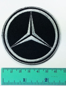 3 Patch Black Mercedes Benz Automobile Car Motorsport Racing Logo Patch Sew Iron on Jacket Cap Vest Badge Sign