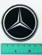 3 Patch Black Mercedes Benz Automobile Car Motorsport Racing Logo Patch Sew Iron on Jacket Cap Vest Badge Sign