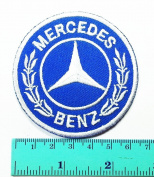 3 Patch Blue Mercedes Benz Automobile Car Motorsport Racing Logo Patch Sew Iron on Jacket Cap Vest Badge Sign