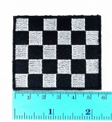 3 Patch Chequered Flag Racing Biker Race Motogp Motocross Car Jacket T-shirt Patch Sew Iron on Embroidered Sign Badge Costume Clothing