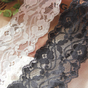 White 5 Yards 7.9cm Wide Stretch Lace Trim Fabric Lace Dress Supplies Costumes Accessory